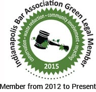 Indianapolis Bar Association Green Legal Member
